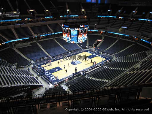 Seat view from section 205 at Fedex Forum, home of the Memphis Grizzlies.