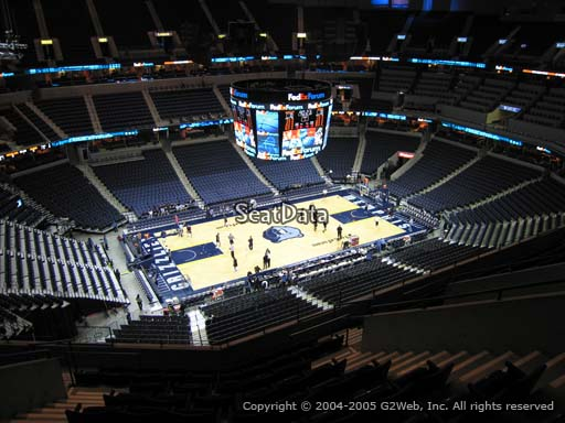 Seat view from section 206 at Fedex Forum, home of the Memphis Grizzlies.