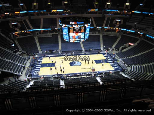 Seat view from section 208 at Fedex Forum, home of the Memphis Grizzlies.