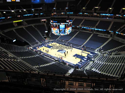 Seat view from section 212 at Fedex Forum, home of the Memphis Grizzlies.