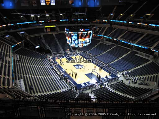 Seat view from section 214 at Fedex Forum, home of the Memphis Grizzlies.