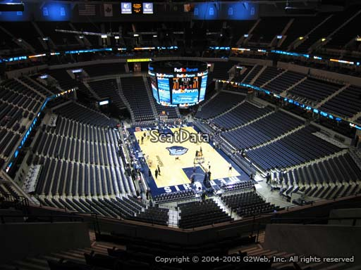 Seat view from section 215 at Fedex Forum, home of the Memphis Grizzlies.