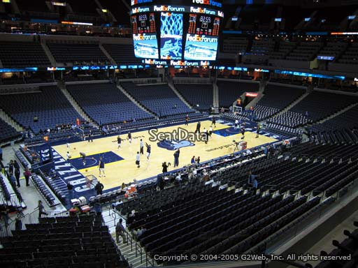 Seat view from club section 1 at Fedex Forum, home of the Memphis Grizzlies.