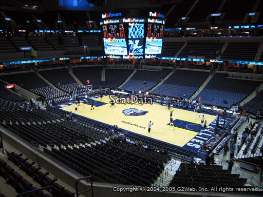 Seat view from club section 14 at Fedex Forum, home of the Memphis Grizzlies.