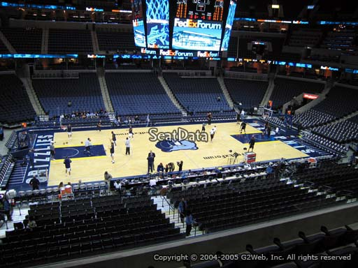 Seat view from club section 3 at Fedex Forum, home of the Memphis Grizzlies.