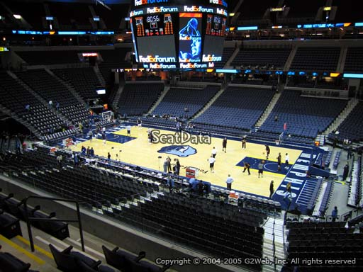Seat view from club section 6 at Fedex Forum, home of the Memphis Grizzlies.