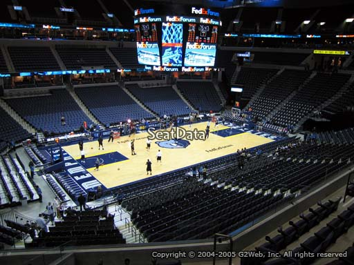 Seat view from section 112A at Fedex Forum, home of the Memphis Grizzlies.