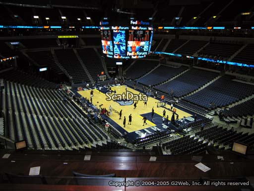 Seat view from Club Box 1 at Fedex Forum, home of the Memphis Grizzlies.