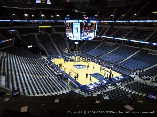 Seat view from Club Box 2 at Fedex Forum, home of the Memphis Grizzlies.