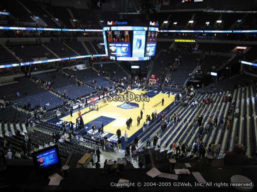 Seat view from Club Box 9 at Fedex Forum, home of the Memphis Grizzlies.