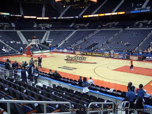 View from Section 102 at Philips Arena, Home of the Atlanta Hawks