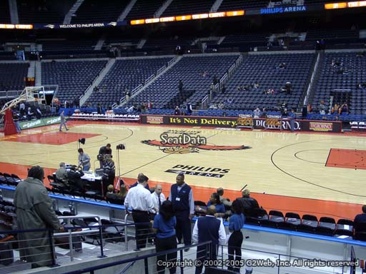 View from Section 103 at Philips Arena, Home of the Atlanta Hawks