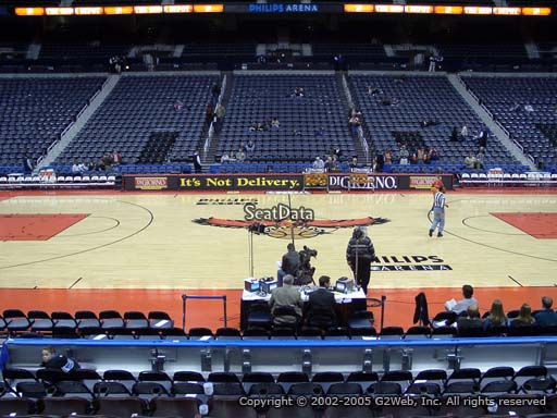 View from Section 104 at Philips Arena, Home of the Atlanta Hawks