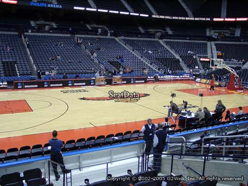 View from Section 105 at Philips Arena, Home of the Atlanta Hawks