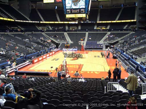 View from Section 109 at State Farm Arena, Home of the Atlanta Hawks