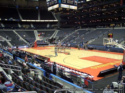 View from Section 112 at Philips Arena, Home of the Atlanta Hawks