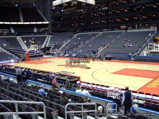 View from Section 113 at Philips Arena, Home of the Atlanta Hawks