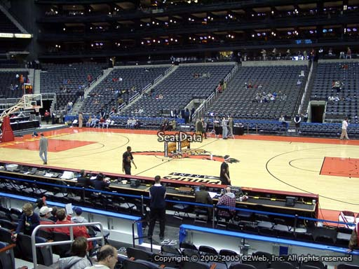 View from Section 114 at Philips Arena, Home of the Atlanta Hawks
