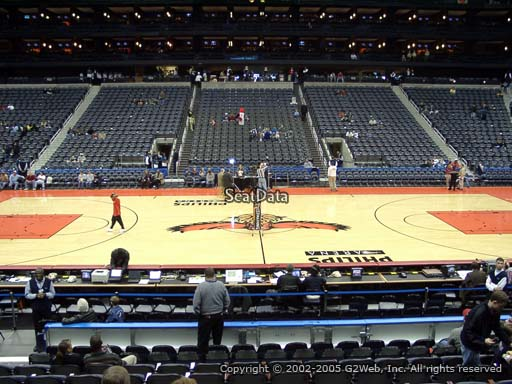 View from Section 115 at Philips Arena, Home of the Atlanta Hawks