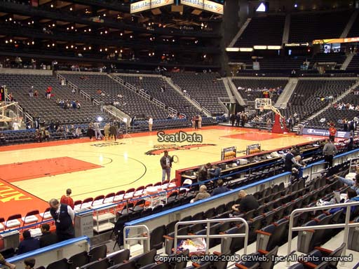View from Section 117 at State Farm Arena, Home of the Atlanta Hawks
