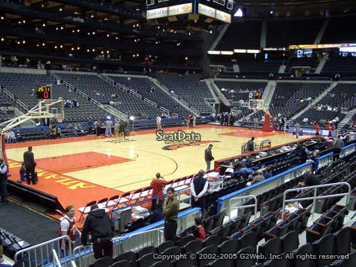 View from Section 118 at Philips Arena, Home of the Atlanta Hawks