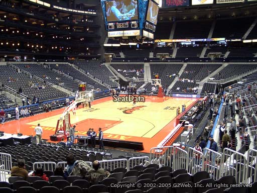 View from Section 119 at Philips Arena, Home of the Atlanta Hawks