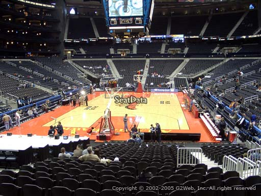 View from Section 120 at State Farm Arena, Home of the Atlanta Hawks