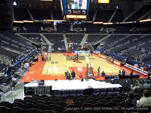View from Section 121 at Philips Arena, Home of the Atlanta Hawks