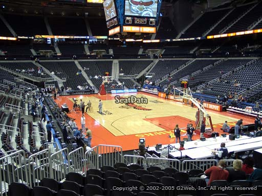 View from Section 122 at State Farm Arena, Home of the Atlanta Hawks