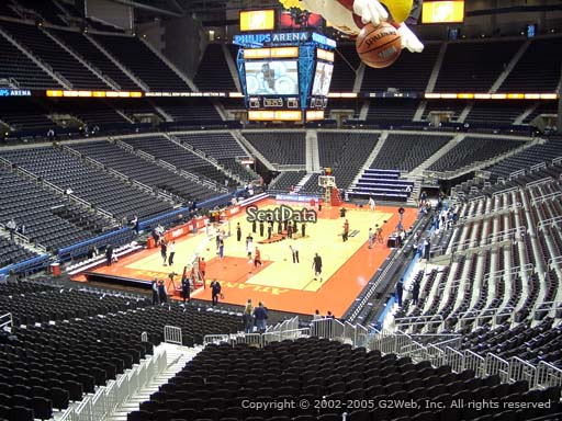 View from Section 202 at State Farm Arena, Home of the Atlanta Hawks