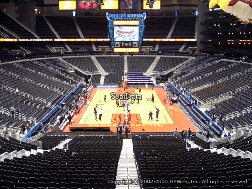 View from Section 204 at Philips Arena, Home of the Atlanta Hawks