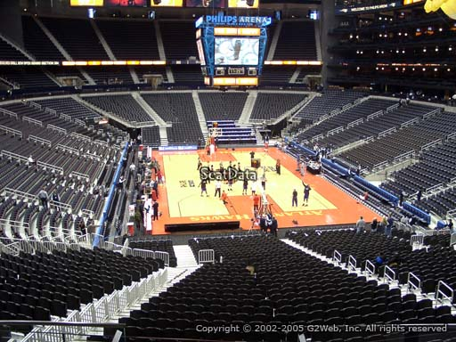 View from Section 205 at Philips Arena, Home of the Atlanta Hawks
