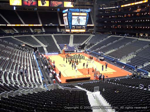 View from Section 206 at Philips Arena, Home of the Atlanta Hawks