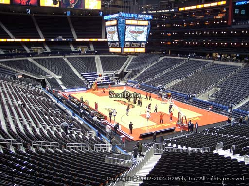 View from Section 207 at Philips Arena, Home of the Atlanta Hawks