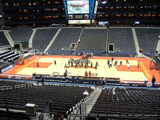 View from Section 211 at Philips Arena, Home of the Atlanta Hawks