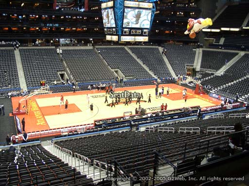 View from Section 213 at State Farm Arena, Home of the Atlanta Hawks