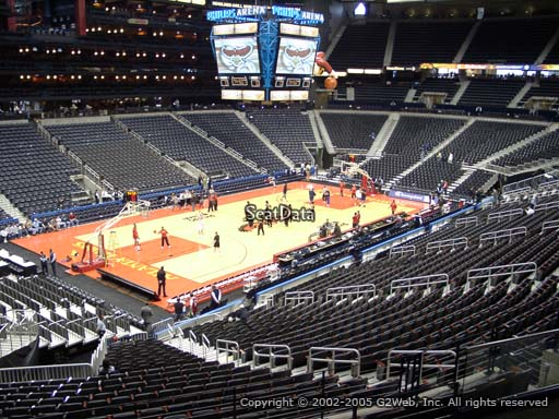 View from Section 215 at State Farm Arena, Home of the Atlanta Hawks