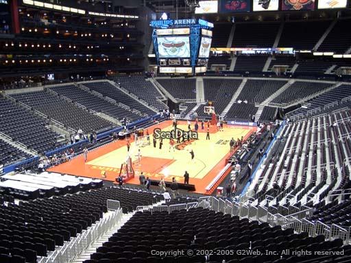 View from Section 217 at State Farm Arena, Home of the Atlanta Hawks