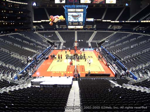 View from Section 219 at Philips Arena, Home of the Atlanta Hawks