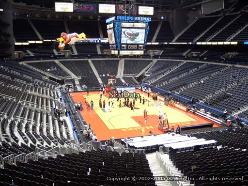 View from Section 221 at State Farm Arena, Home of the Atlanta Hawks