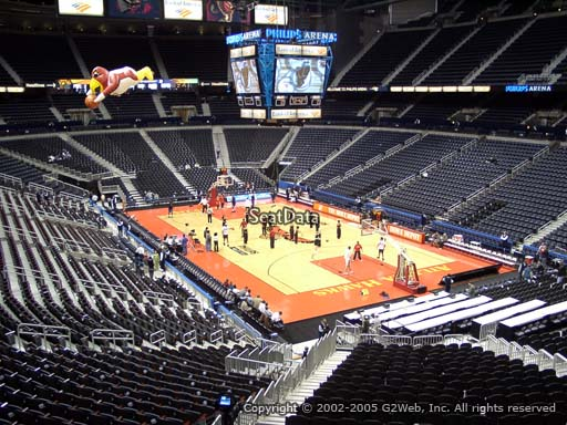View from Section 222 at Philips Arena, Home of the Atlanta Hawks