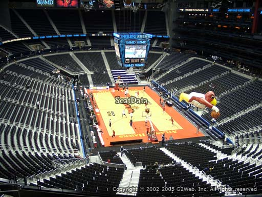View from Section 304 at Philips Arena, Home of the Atlanta Hawks
