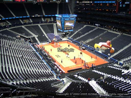 View from Section 305 at Philips Arena, Home of the Atlanta Hawks