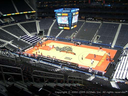 View from Section 308 at Philips Arena, Home of the Atlanta Hawks