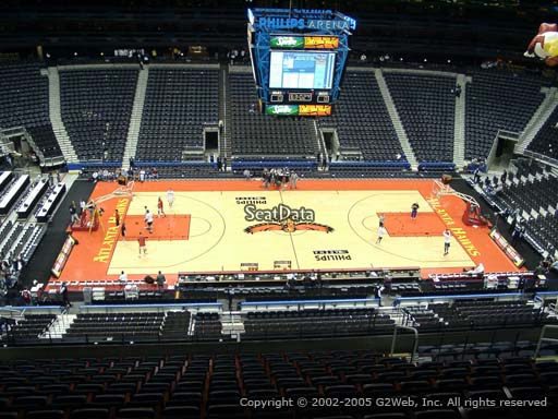View from Section 311 at Philips Arena, Home of the Atlanta Hawks