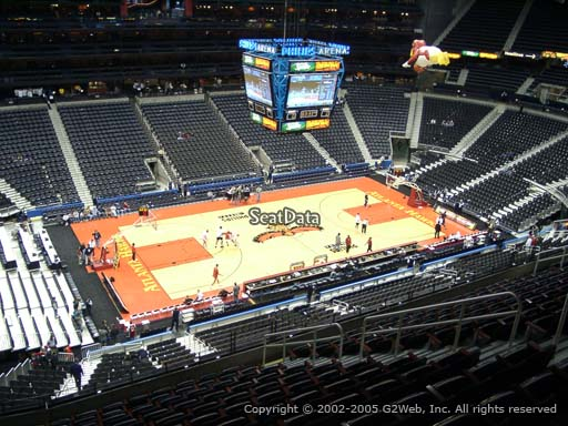 View from Section 313 at State Farm Arena, Home of the Atlanta Hawks