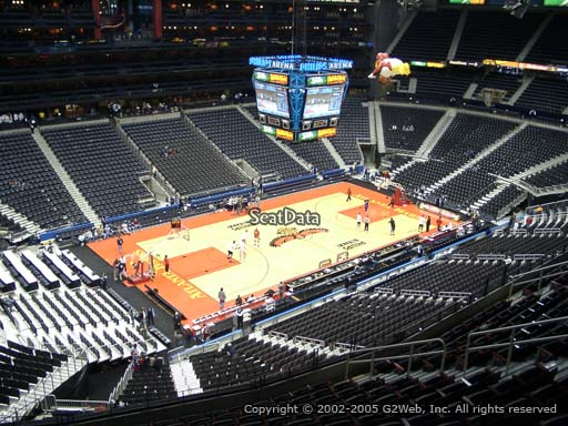View from Section 314 at Philips Arena, Home of the Atlanta Hawks