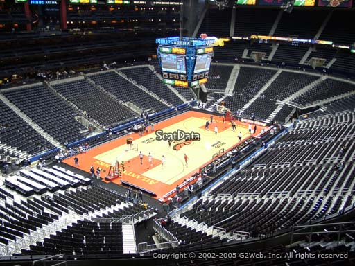 View from Section 315 at Philips Arena, Home of the Atlanta Hawks