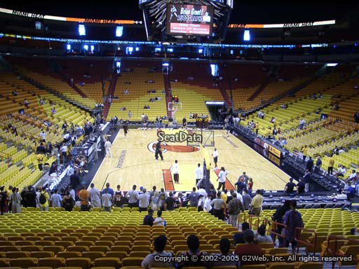 Seat view from section 101 at American Airlines Arena, home of the Miami Heat