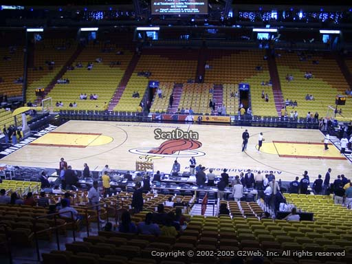 Seat view from section 106 at American Airlines Arena, home of the Miami Heat